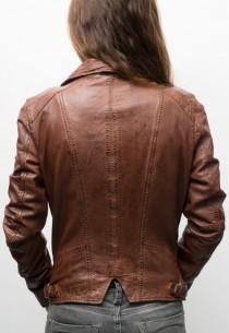 Blouson cuir Oakwood Camera Marron